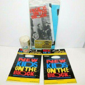 Vintage NKOTB Party Supplies Loot Bag Tablecloth